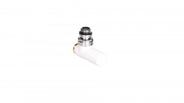 "Thermostat-Eckventil 50 mm CYLINDER GZ 1/2""-GZ 24-19 Links-Weiss"