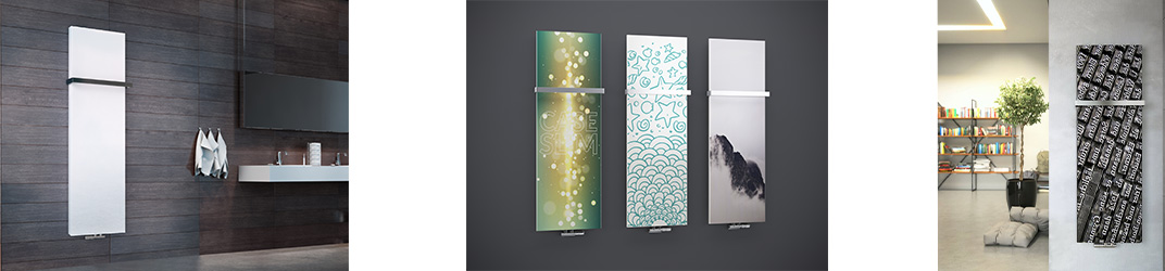 fachheizkörper und Planheizkörper in Beton, Metall oder Glas