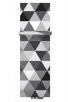 Flachheizkörper mit Glasoberfläche mit Karo Muster