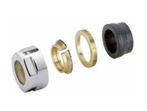 Adapter auf Kupfer CYLINDER  GW 24-19-Durchm. 15 -Chrom