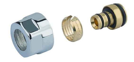 """Adapter auf Alupex CYLINDER GW 3/4""""-Durchm. 16x2 -Silber"""