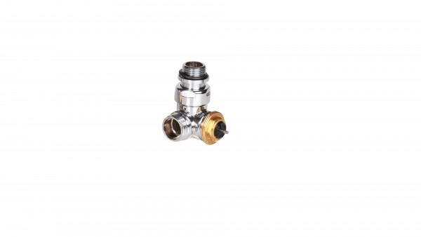 """Winkeleck-Thermostatventil CYLINDER GZ 1/2""""-GZ 24-19 Links-Chrom"""