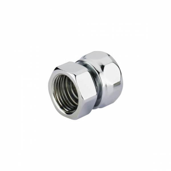 """Adapter auf Stahl HEXAGmm GW 24-19-GW 1/2"""" -Chrom"""