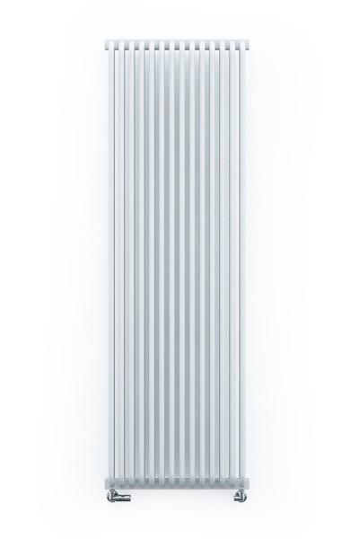 vertikaler Designheizkörper Delvin V soft white frontal