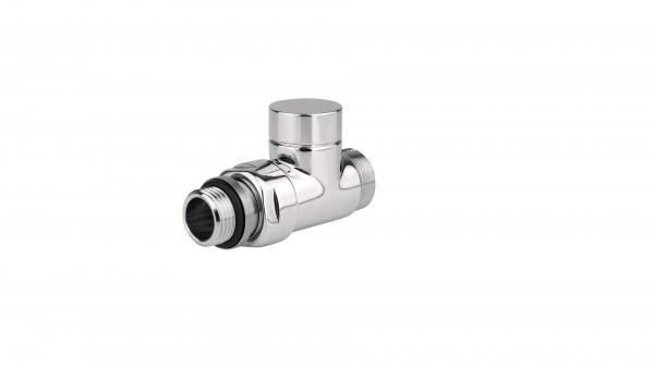 """Absperr-Durchgangsventil CYLINDER GZ 1/2""""-GZ 24-19 -Silber"""