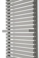 Handtuchheizkörper City mit Thermostatventil und Heizpatrone in Grau
