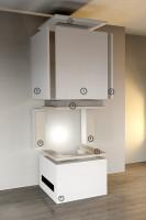 Kaminbausatz, desayoRoyal Med 6,5 kW V2, arrangiert in anthrazit