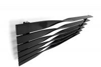 horizontaler Designheizkörper Cyklon H in RAL 9005 forntal von oben
