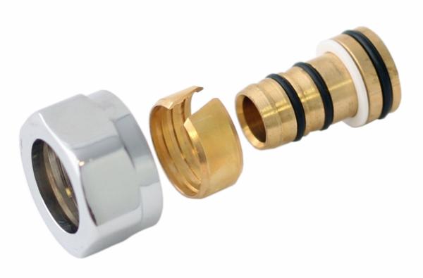 Adapter auf Alupex SC GW M22x1,5-Durchm. 16x2 -Chrom