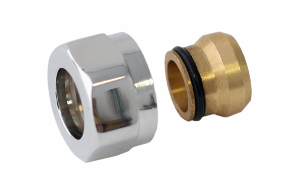Adapter auf Kupfer SC GW M22x1,5-Durchm. 15 -Silber