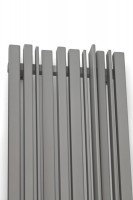 Designheizkörper Sherwood V in Grau Seitenansicht