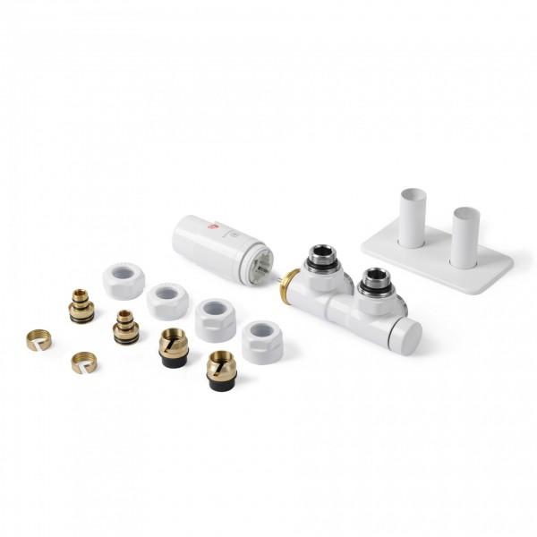 TWINS - Set Thermostat-Verbund-Eckventil - Links