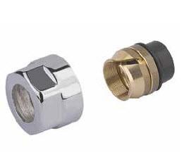 """Adapter auf Kupfer CYLINDER GW 3/4""""-Durchm. 15 -Silber"""