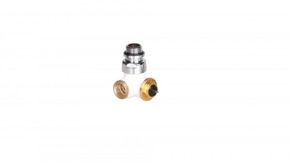 """Winkeleck-Thermostatventil CYLINDER GZ 1/2""""-GZ 24-19 Links-Weiss"""