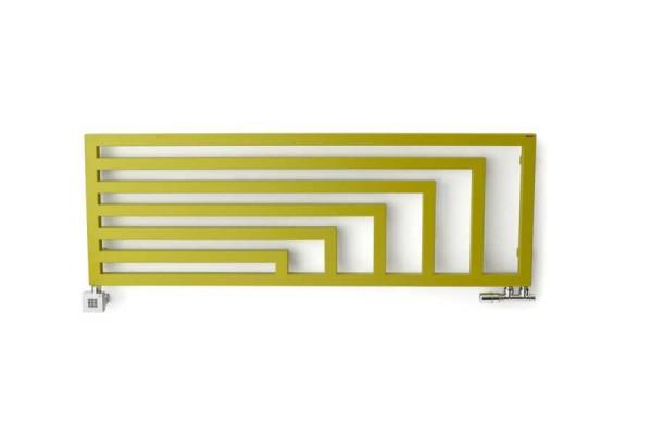 horizontaler Design-Heizkörper Angus H, frontal, Farbe Green Apple