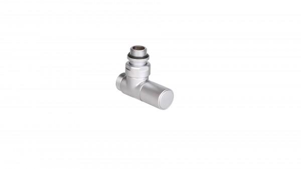 """Thermostat-Eckventil 50 mm CYLINDER GZ 1/2""""-GZ 24-19 Rechts-Silber"""