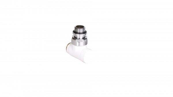 """Thermostat-Eckventil CYLINDER GZ 1/2""""-GZ 24-19 -Weiss"""