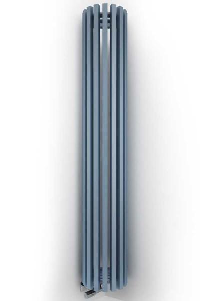 Designheizkörper Triga ANC in blau frontal