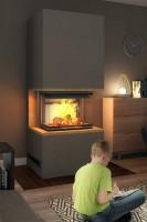Kaminbausatz desayoPure Med 6,5 kW, Feuer davor ein Kind